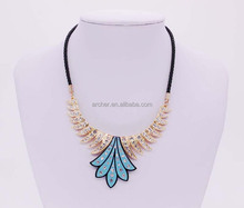 Fashion Jewellery 2016 Fashion Colorful Rope flower Resin Cnkys Necklace GJ-100