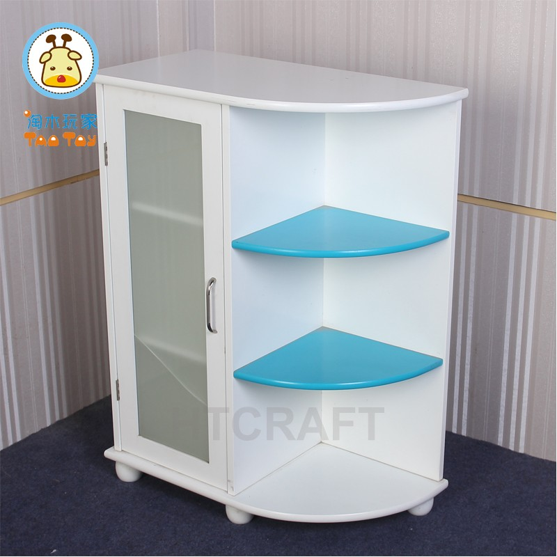 Modern Wall Mounted Cabinet With 3-tiers Side Shelf, White Painted Storage Shelf/Shelf Storage Cabinet
