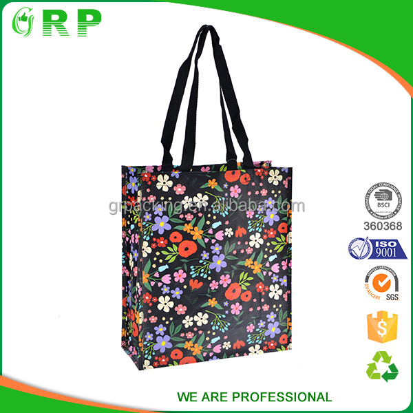 Heavy duty reusable colorful printing large shopping bag