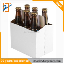 Custom Printed Logo Paper Cardboard 6 Pack Bottle Beer Wine Box Carrier For Promotion