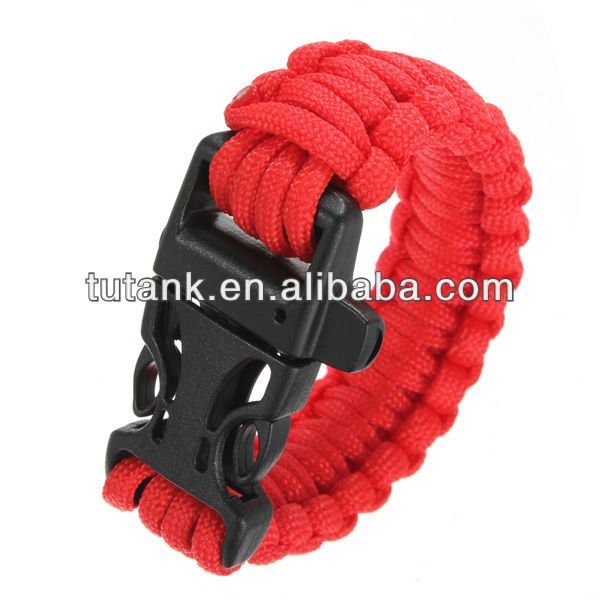 Outdoor Paracord Cord Bracelet Buckle