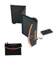Foldable fabric solar charger 14W for cell phones, power bank
