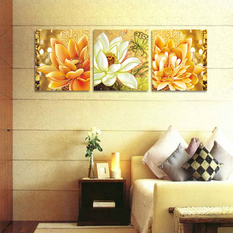 automatic painting robot buddha oil flowers no frame canvas