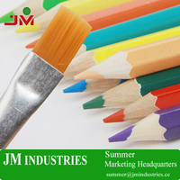 12&36 colors eco-friendly Water soluble custom beautiful colored wooden pencils for kids