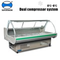 Commercial Supermarket Counter Top Used Meat Display Refrigerator