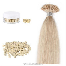 "18"" I-Tip Stick Real Human Hair Extensions+Micro Beads 100pcs 50g Light Blonde"
