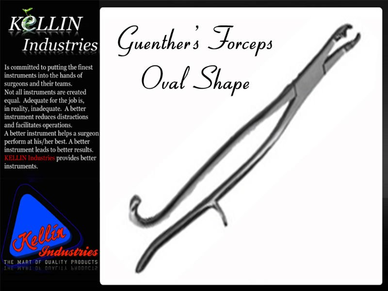 Guenthers Forceps Oval Shape Veterinary Dental Tools