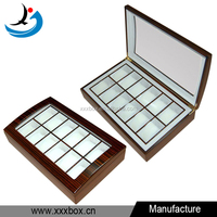 12 slot glossy lacquered wooden display case for watch