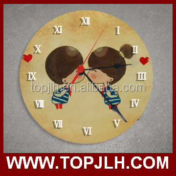 cool sublimation new design printed glass wall clocks