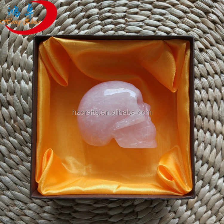Wholesale crystal quartz skull/crystal skull and bag/box