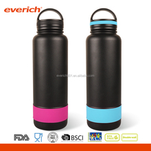 Everich Promotional Customized Insulated Stainless Steel Vacuum Bottle With Silicone Band