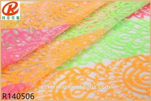 3Years warrant Chiffon lace fabric with shine colour ASB-EB-05