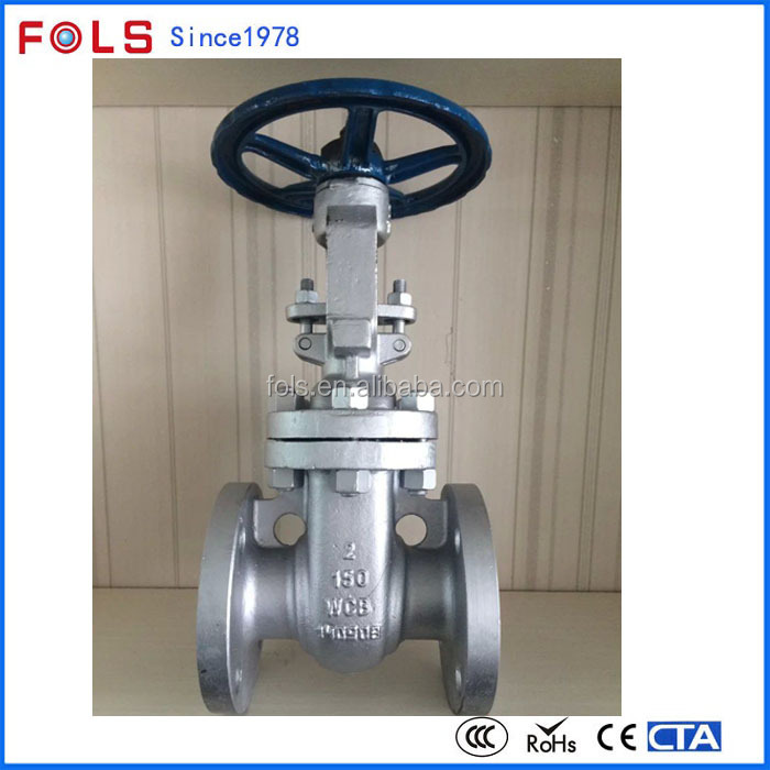manual stainless steel 304 flange ansi standard gate valve