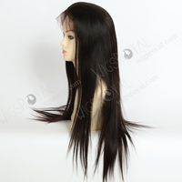 22 inch silky straight cuticle human hair top quality peruvian full lace wig
