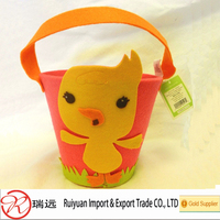 Hot China Products Wholesale Eco-friendly Felt Easter Egg Basket