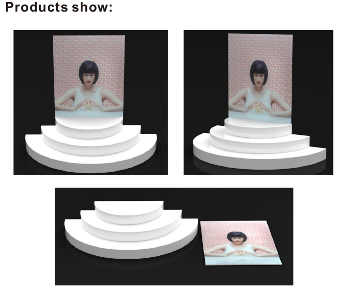 fasion custom acrylic cosmetic display perfume bottle display stand