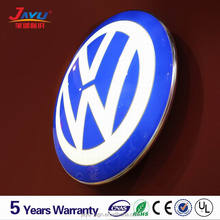 High quality acrylic blister surface with silk print car logo for VW