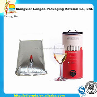 3l plastic bag in box wine bag in box holder
