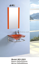 simple design staineless steel support cabinet ,bathroom cabinet set