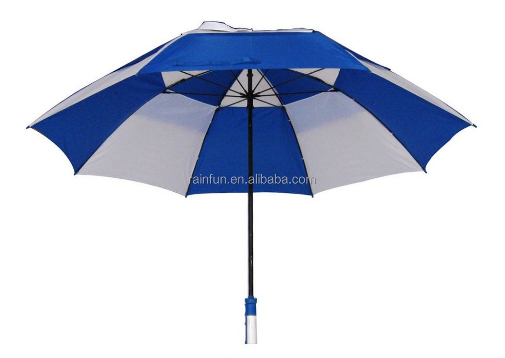 Two layers canopy golf umbrella with air vents