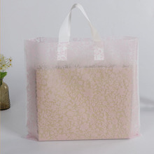 Soft Handle Plastic Frosted Degradable Eva Garment Bag Shopping Tote Bag