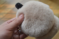 Rabbit Fur Ear Muffs Winter Ear Warmer plush hat animal ears