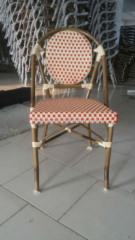 Bamboo Look Woven Rattan French Bistro Chairs Buy Bamboo