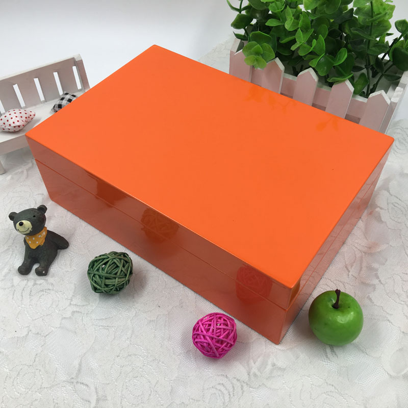 India Orange wood gift wallet book calclater box