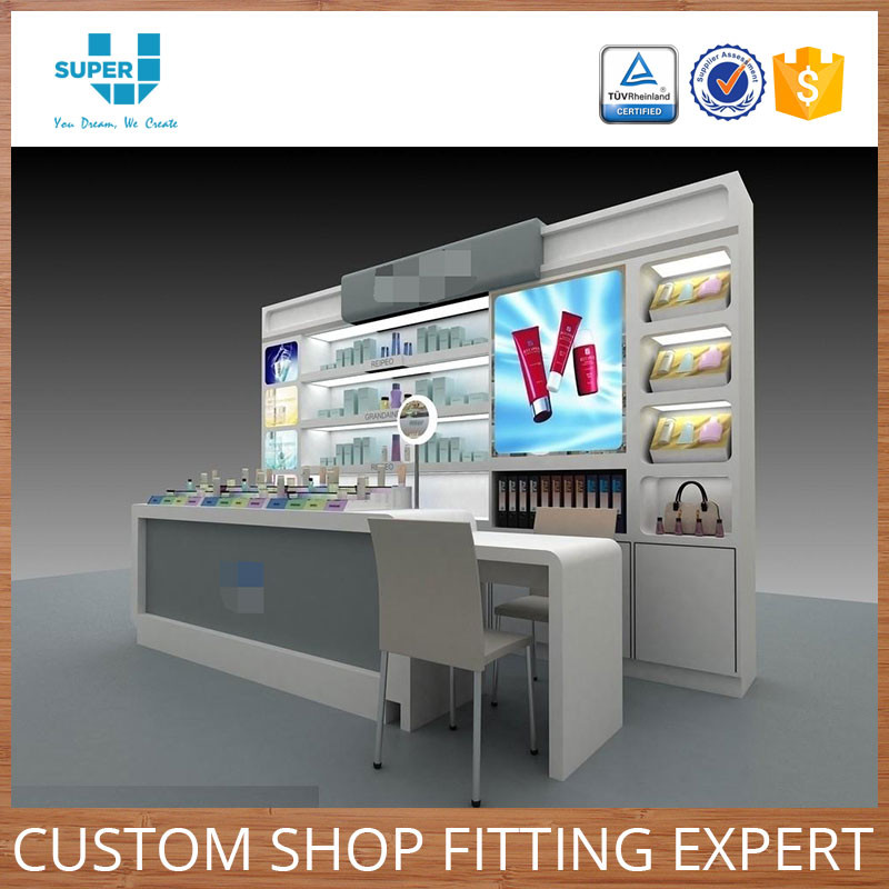Customized Cosmetic Store Showcase Beauty SPA Salon Furniture Cosmetic Showcase