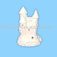 ceramic unpainted diy castle porcelain figure
