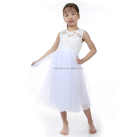 Flower Girl Dresses modern designs Back zip polyester lining lace Flower Girl Dresses