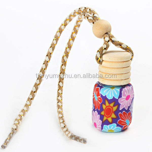 Supply car perfume bottle 5ml with wooden cover for promotion