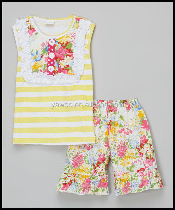 yawoo baby clothing wholesale china summer newstyles thailand clothing manufacturers floral shorts baby clothes clothing sets
