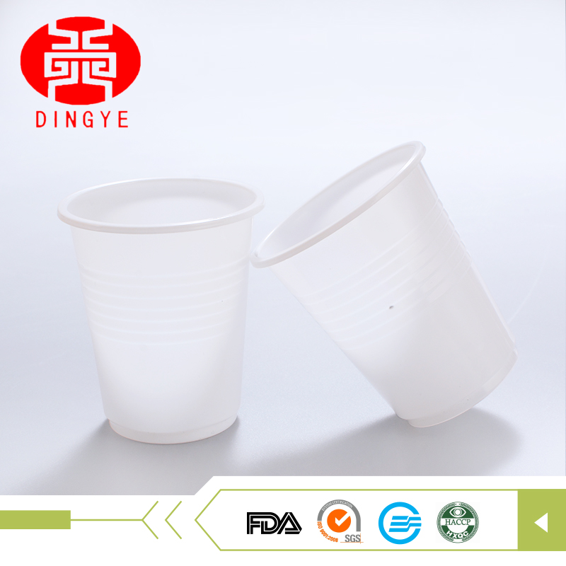 Sale 6oz drinking pp disposable white transparent plastic cup plastik with logo accept custom