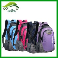 The new high-capacity nylon travel backpack, shoulder bag, colorful bag high school students