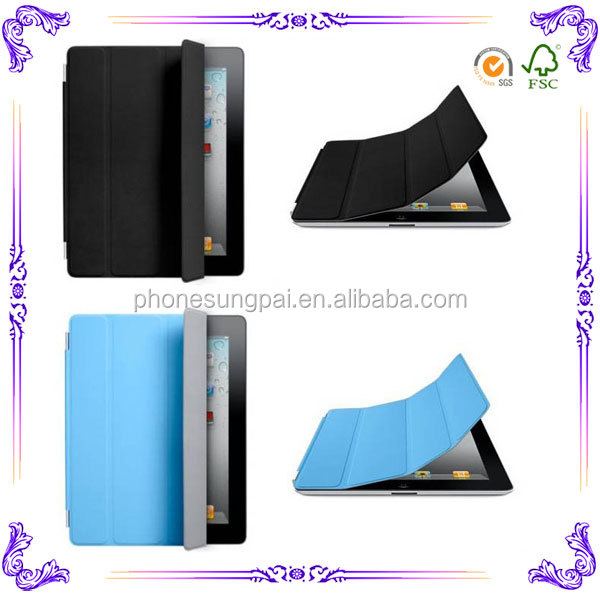 Fashion tablet leather for ipad 3 case wholesale with package