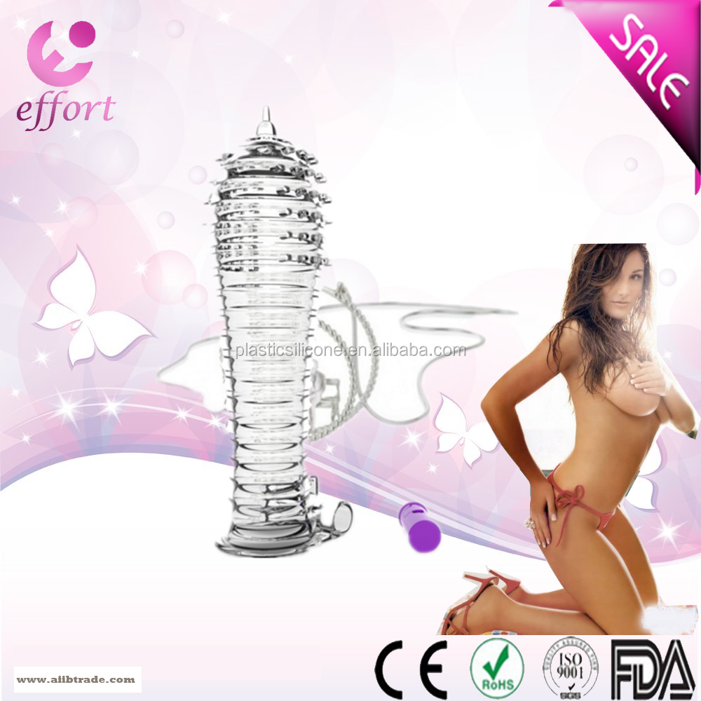 E805 Top quality OEM penis sleeve extended Reusable cock sleeve crystal condom for male