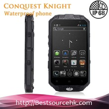 Original CONQUEST KNIGHT Customized 4.3 Inch IP68 Waterproof Android 3G GPS Mobile Phone