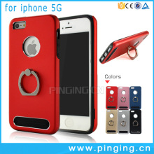 360 rotation finger ring mobile cell phone holder hard armor case for iphone 5 cover