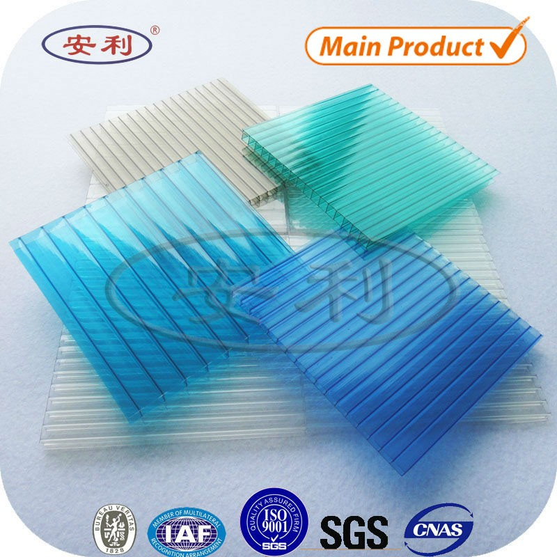 Hollow twin wall pc plastic sheet