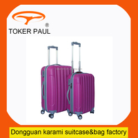 cheap ABS four wheels plastic trolley luggage bag