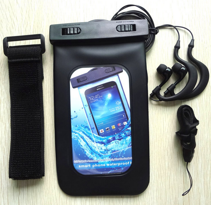 High quality waterproof pouches for mobile phones,cell phone swimming bag
