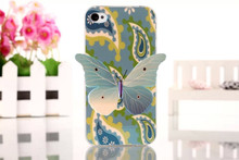 Beautiful blue butterfly case for iphone 4s