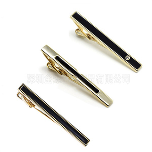 OEM customized gold or silver  Tie Clip