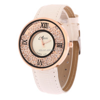 Ladies bracelet fashion Watch delicate Leather rhinestone Watches Waterproof