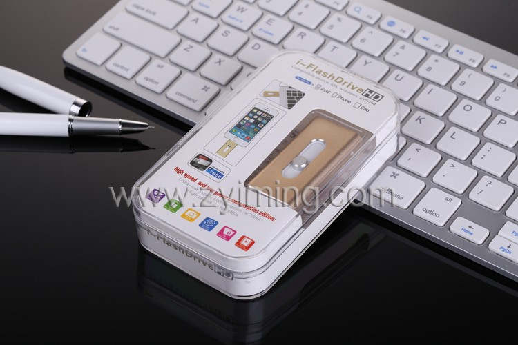Zyiming hot sell 3.0 OTG usb stick 32gb/64gb/128gb/1tb usb flash drive card for iphone