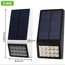 SL-860B 15 LED Outdoor Super Bright Microwave Induction Solar Wall Lamp