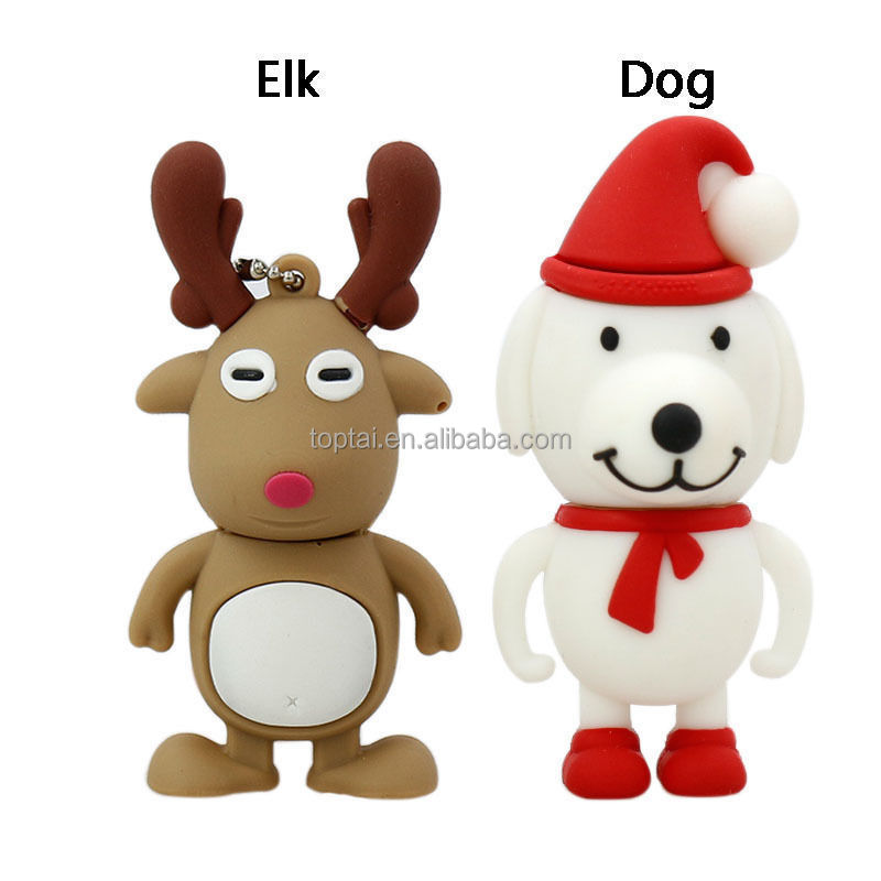 Christmas dog /Elk model USB 2.0 Memory Stick Flash pen Drive 4GB - 32GB