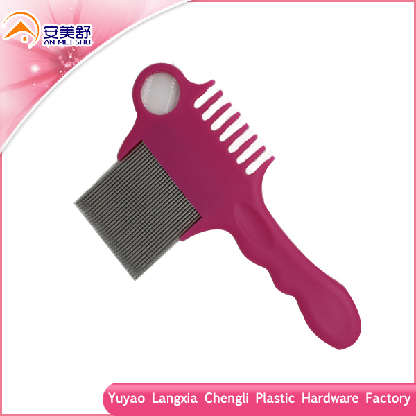 long handle double used anti lice Nit and flea free head Lice Comb