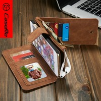 2016 Mobile Phone Cover For iPhone 6 6S 6Plus 6sPlus S7 S7edge detachable 2 in 1 Leather CaseMe Original Phone cover